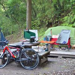 カメラ女子/アウトドア/二人暮らし/テント/キャンプ/はじめてフォト投稿/... 連休の旅行中のキャンプサイト。 移動が多…(1枚目)