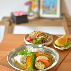 おうちごはん/おうちカフェ/タイカレー/手作りカレー/タイ料理/エスニック料理/... ある日のおひるごはん、 ココナッツミルク…