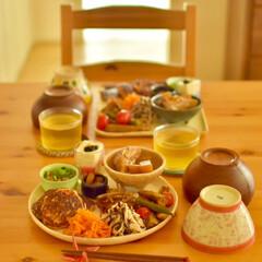 おうちランチ/昼ごはん/ごはん/カフェめし風/野菜のおかず/お野菜たっぷり/... ある日のワンプレートごはん 。  イカ団…(2枚目)