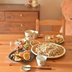 LIMIAごはんクラブ/おうちカフェ/おうちごはん/料理/休日ランチ/昼ごはん/... ステイホーム中の休日昼ごはん。  お出か…(1枚目)