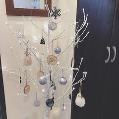 モノトーン雑貨/シラカバツリー/スリコ/3COINS新商品/3COINS/クリスマス雑貨/... 2019はモノトーン+ウッドなクリスマス…