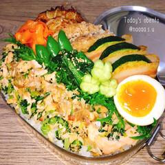 簡単おかず/簡単レシピ/ステンレス弁当箱/シーガル弁当/シガール/今日のお弁当/... 今日のメインは手作り鮭ふりかけ👐🏻✨  …