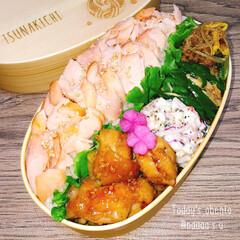鮭弁当/鮭/曲げわっぱ弁当/わっぱ弁当/旦那弁当/愛妻弁当/... 色のうっすーい鮭弁当😂  ◾鮭のほぐし身…