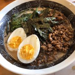 ゴマだれ/坦々麺/レシピ/料理 坦々麺風ラーメン  *材料* 挽肉 15…