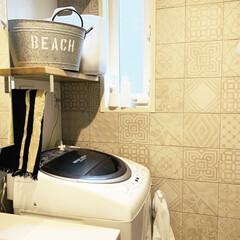 アタック ZERO ワンハンド 本体 400g | 花王(液体洗剤)を使ったクチコミ「お気に入りの洗濯スペース。  ここはタイ…」