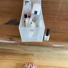 HOMEI ウィークリージェル WG-25(ジェル)を使ったクチコミ「サンダルの出番が増えたので爪を塗りました…」