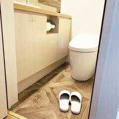 ニトリ購入品/スリッパ/インテリアコーディネート/トイレのインテリア/トイレ掃除/トイレ/... ニトリで購入した新しいスリッパ♪  トイ…