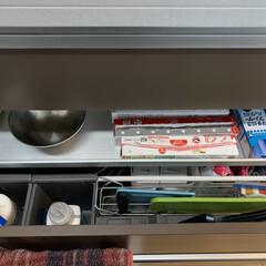 柳宗理 ボール4個セット ステンレスボール4PCS | 柳宗理(その他キッチン、台所用品)を使ったクチコミ「我が家のシンク下収納です。 引き出しなの…」