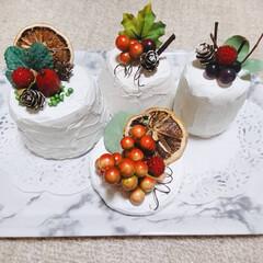 ハンドメイドケーキ/かべシール/フェイクケーキ/キャンドゥ/ダイソー/セリア/... かべシールでケーキを作った! 他は100…