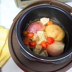 cooking/クッキング/料理/家事/キッチン/時短家事/... . . ずっとずっと欲しかった電気圧力鍋…(2枚目)