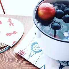 日本の夏/おうちカフェ/夏休み/LIMIAファンクラブ/至福のひととき/おやつタイム/... . . . 暑いのでー、おやつは氷水に浸…