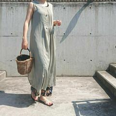 アラフォー主婦/アラフォーファッション/アラフォーコーデ/しまパト/ママコーデ/ママファッション/... 少し前のコーディネートです。 シアー素材…(3枚目)
