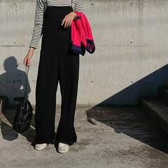 秋コーデ/アラフォーファッション/アラフォー主婦/アラフォーママ/アラフォー/30代コーデ/... 暖かいですね❗ 厚手の羽織りは要らないく…