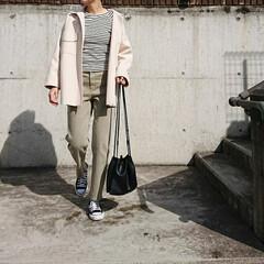 30代ファッション/30代コーデ/ママコーデ/ママファッション/アラフォーファッション/アラフォーコーデ/... 春はいつもより余計に、ボーダー柄を取り入…