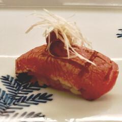 絶品/トロ炙り/鮨屋/博多/わたしのごはん/旅行 博多駅近くの鮨屋にて トロ炙りが絶品でした