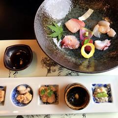 綺麗/美味しい/アート/刺身/夕食/男鹿ホテル/... 秋田の男鹿ホテルの夕食から 八寸と刺身が…