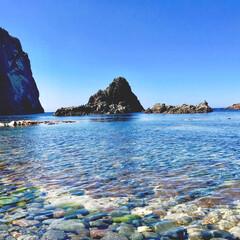 絶景/美しい/透明な海/積丹ブルー/島武意海岸/積丹半島/...