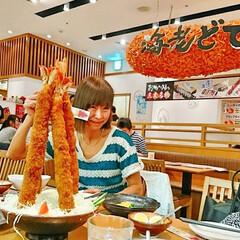 名古屋/エビフライ/超特大/わたしのごはん 名古屋の「海老どて食堂」で、大好きな超特…