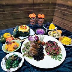 ハロウィン2019 今年のハロウィンは、和食器と秋の食材を使…(1枚目)