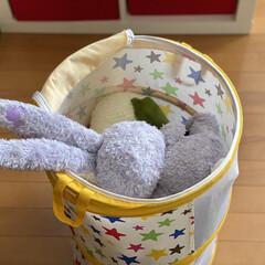 子供部屋/ニトリ/ぬいぐるみ収納/ぬいぐるみ 【ぬいぐるみ収納】  こんにちは! 節約…