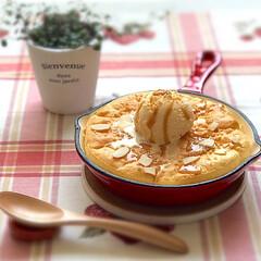 おうちごはん/パンケーキ/お昼ごはん/おひとりさま/至福のひととき/おやつタイム/... 5月24日金曜日 スキレットでスフレパン…