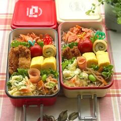 ミコノス/お弁当/お昼が楽しみになるお弁当/お弁当作り/LIMIAごはんクラブ/おうちごはんクラブ/... 7月9日火曜日☀️。 ささみフライと鮭弁…