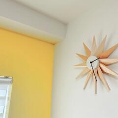 インターフォルム INTERFORM クロック CLOCK フェルマー Fermat ブラック CL-3023 BK(掛け時計、壁掛け時計)を使ったクチコミ「お気に入りのリビングの時計🕰  お花とか…」