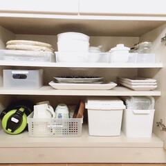 大皿収納/食器棚/食器収納/カップボード収納/収納/キッチン収納/... 使用頻度低めの、食器収納です。 大きなお…