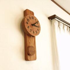 リミアな暮らし/木製/振り子時計/掛け時計/時計/リビング/... リビングの時計は、KICORIの振り子時…