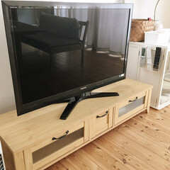 置かない/リミアな暮らし/リモコン収納/テレビ周り/テレビ台/テレビボード/... そうじしやすいように、テレビボードの上に…