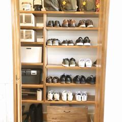 防災グッズ/SKUBB/スクッブ/IKEA/靴収納/土間収納/... 玄関には、土間収納があります。  靴は棚…
