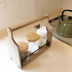 ティーセット/コーヒーセット/取っ手付き/カッティングボード/おかもち/トレー/... セリアで作るおかもち風トレーの作り方が、…
