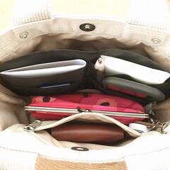 バッグ/マルチポケットインバッグ/ダイソー/整理/かばん/収納/... ダイソーの「マルチポケットインバッグ」を…