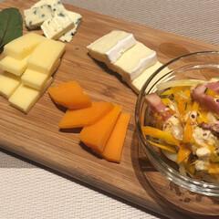 リミアな暮らし/パーティー料理/IKEA/チーズ盛り合わせ チーズの盛り合わせ。IKEAのボードに載…