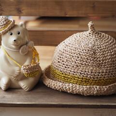 編み物雑貨/北欧/オシャレ/ハンドメイド/earmii/どんぐり帽子/... 北欧で有名なしろくま貯金箱のシロクマさん…