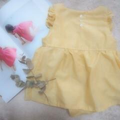 はじめてフォト投稿/ママの趣味/手作りベビー服/ハンドメイド/女の子ベビー服 こちらの服は、 kana's stand…