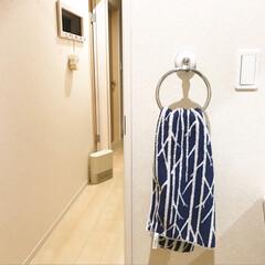 ダルトン TOWEL RING | DULTON(洗濯機部品、アクセサリー)を使ったクチコミ「洗面所にタオルをかける場所がなかったので…」