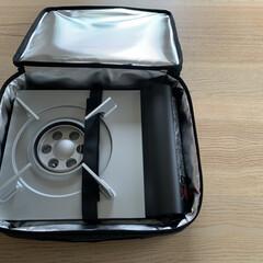 Iwatani カセットコンロ カセットフー エコプレミアム CB-ECO-PRW イワタニ 岩谷 | カセットフー(カセットコンロ)を使ったクチコミ「カインズホームでカセットコンロ用ケースを…」(2枚目)