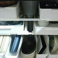 賃貸キッチン/賃貸インテリア/賃貸/整理収納アドバイザー/整理収納/カップボード収納/... 【食器収納 続き】  写真はキッチンのシ…