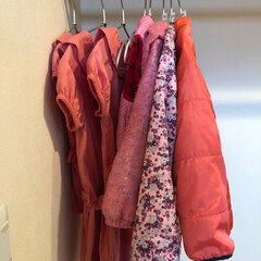 子ども服収納/子ども服/ハンガー収納/クローゼット/収納/暮らし 【子ども服のアウター収納】  衣替えの季…