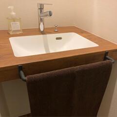 セカンド洗面台/洗面台/アイカ工業/スタイリッシュカウンター お気に入りのセカンド洗面台 アイカ工業の…