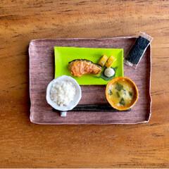お味噌汁/ごはん/ティッシュ/手作り雑貨/お茶碗/お碗/... 昨日の秋刀魚定食に引き続き 残りのご…(2枚目)