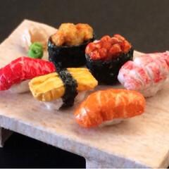折り紙/紙/ミニチュア/ハンドメイド/DIY/はらぺこグルメ/... お寿司〜♪ しかしこれは紙なので食べれま…