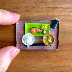 お味噌汁/ごはん/ティッシュ/手作り雑貨/お茶碗/お碗/... 昨日の秋刀魚定食に引き続き 残りのご…