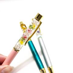 おしゃれアイテム/花のある暮らし/花のある生活/ハーバリウムボールペン/ハーバリウム/ボールペン/... ハーバリウムボールペン パワーストーン(…