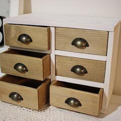 Seria/セリア/小物入れ/ボックス/DIY/リメイク/... seriaのミニボックスで作った小物入れ…