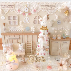 ミニチュア/ツリー/お部屋/DIY/ドールハウス/クリスマス/...