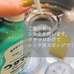 ウタマロクリーナー | ウタマロ(その他洗剤)を使ったクチコミ「ご飯のあと、食器を洗ったら、その流れでシ…」(1枚目)