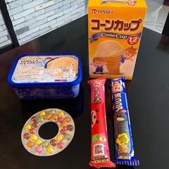 バニラアイス/コーンカップ/アイスクリーム/おやつタイム/おやつ/簡単おやつ/... 最近のおやつ  スーパーで コーンカップ…