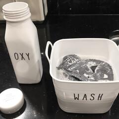 モノトーングッズ/モノトーン/漬け置き/つけ置き洗い/ソフトバスケット/100円グッズ/... ちょっとしたつけ置き洗いに使えるDAIS…